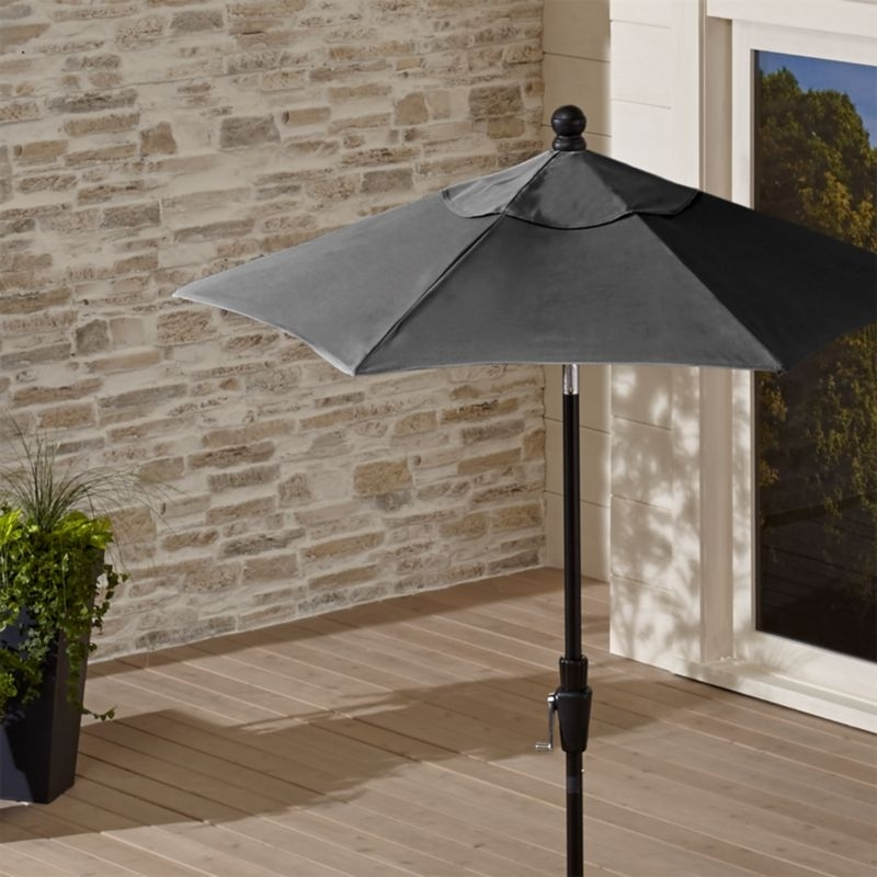 Preferred Limited Time Sale Outdoor Patio Umbrellas Crate And Barrel – Arelisapril For Grey Patio Umbrellas (View 12 of 15)
