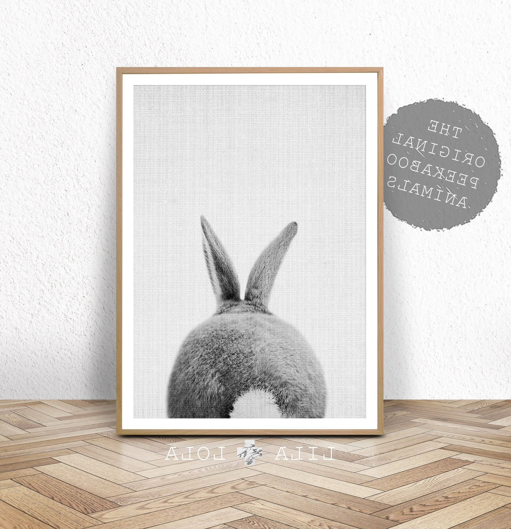 Preferred Nursery Print, Bunny Rabbit Tail Wall Art, Printable Instant Digital Intended For Bunny Wall Art (View 13 of 15)