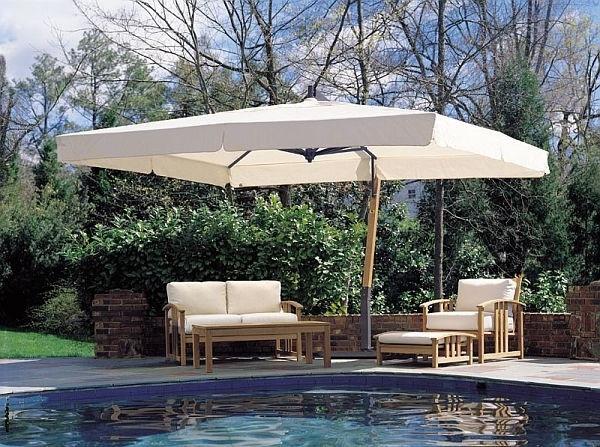 Preferred Offset Rectangular Patio Umbrellas For Offset Rectangular Patio Umbrella Luxury Giant Sidepost Umbrella P (View 9 of 15)