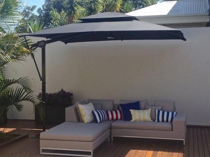 Preferred Outdoor: Splendiferous Rectangular Offset Patio Umbrella For Your In Rectangular Offset Patio Umbrellas (View 6 of 15)