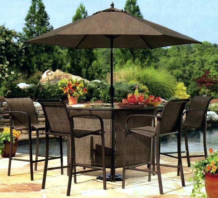 Preferred Patio Tables With Umbrellas With Regard To Outdoor Furniture With Umbrella Outdoor Umbrella Chair Patio Sets (View 9 of 15)