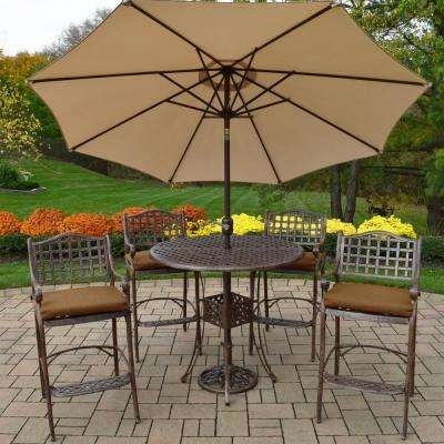 Preferred Patio Umbrellas For Bar Height Tables In Umbrella – Bar Height Dining Sets – Outdoor Bar Furniture – The Home (View 11 of 15)