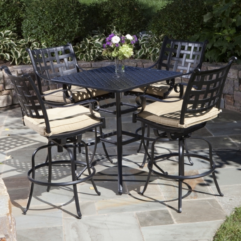 Preferred Patio Umbrellas For Bar Height Tables With Bar Height Patio Table With Umbrella — Inspire Furniture Ideas (View 11 of 15)