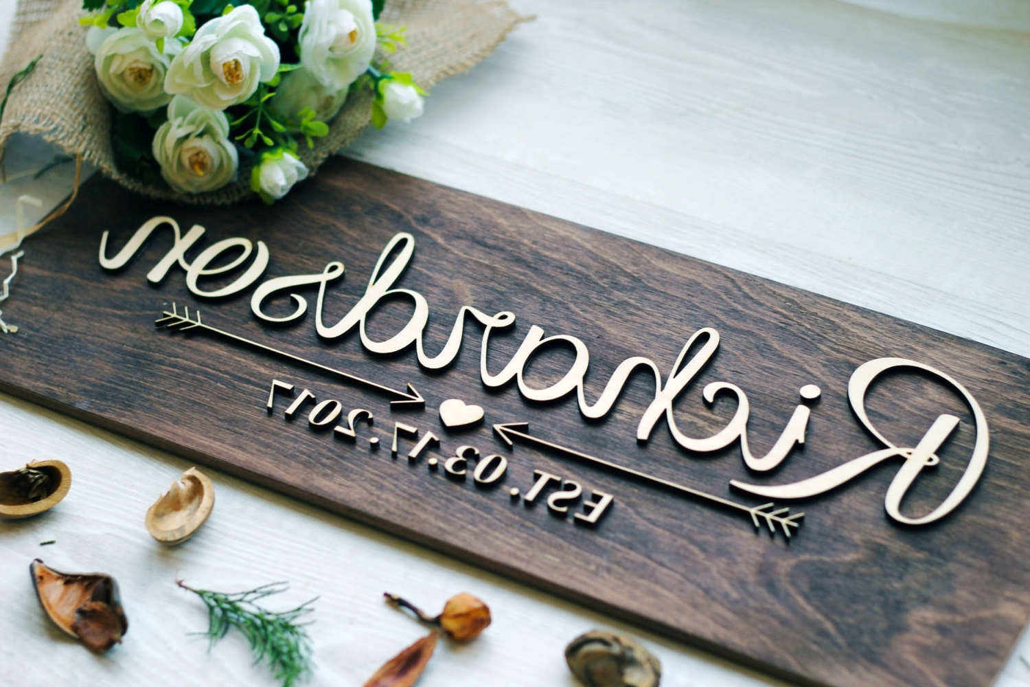 Preferred Personalized Last Name Wall Decor Beautiful Items Similar To Regarding Family Name Wall Art (View 11 of 15)