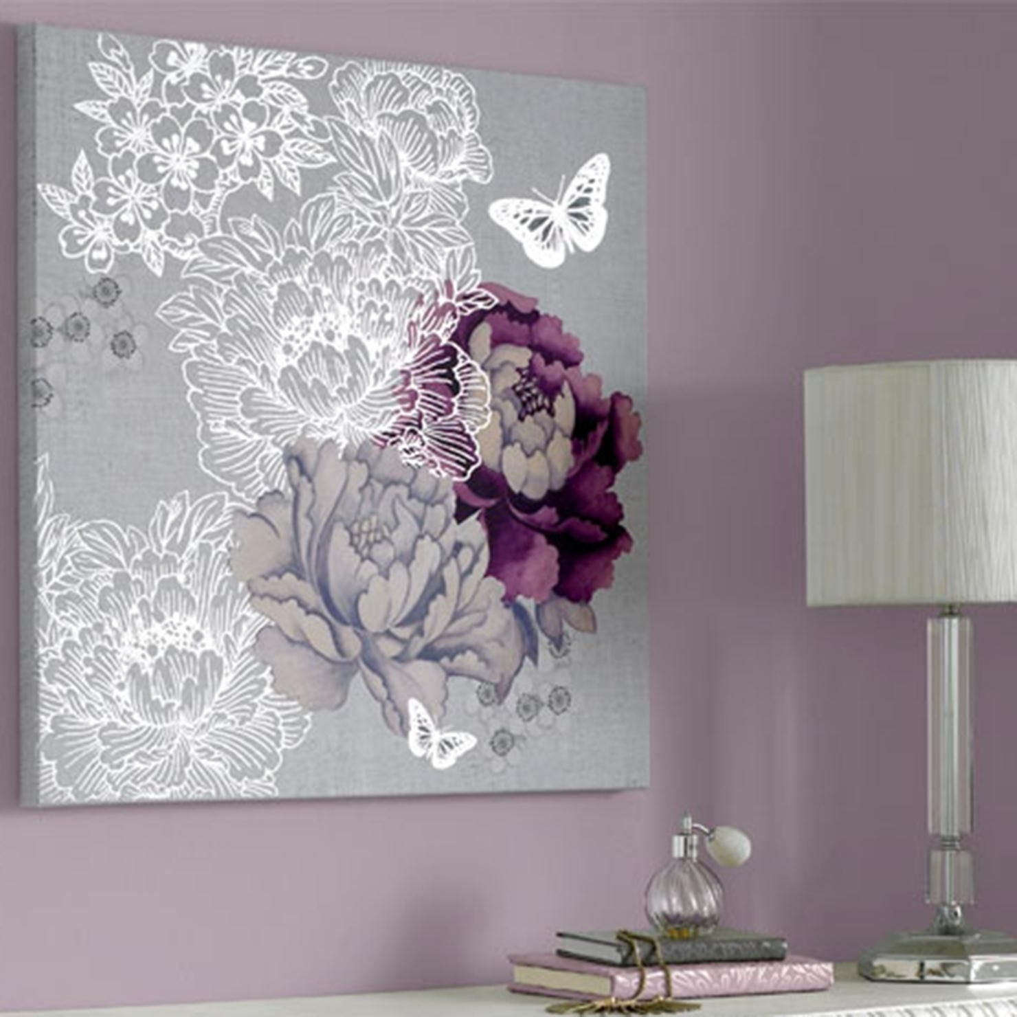 Preferred Purple And Grey Wall Art Throughout Extremely Inspiration Purple And Gray Wall Art – Ishlepark (View 7 of 15)