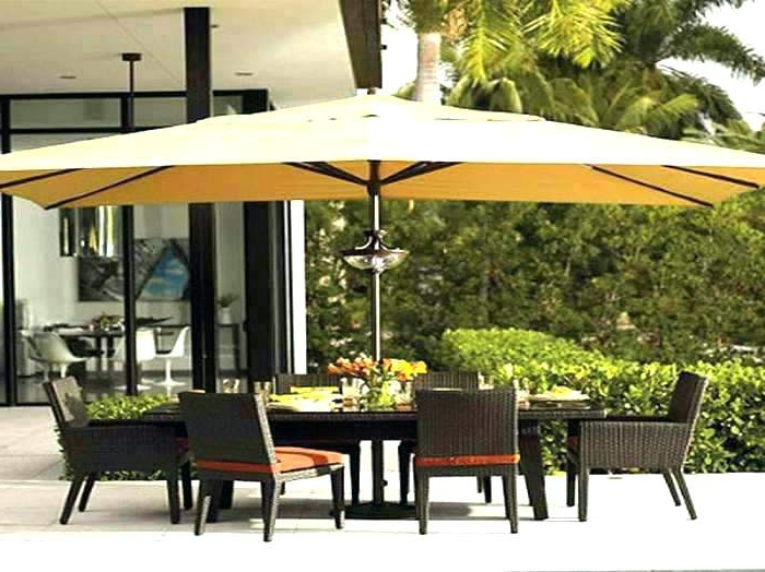 Preferred Rectangular Patio Umbrellas Brown Rectangular Rectangular Cantilever Pertaining To Rectangle Patio Umbrellas (View 15 of 15)