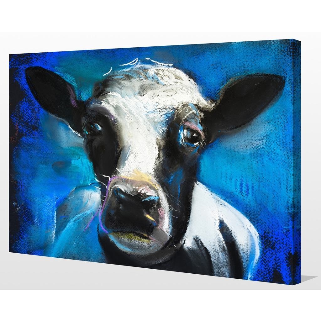 """Preferred Shop """"cow Face"""" Giclee Print Canvas Wall Art – On Sale – Free Throughout Cow Canvas Wall Art (View 13 of 15)"""