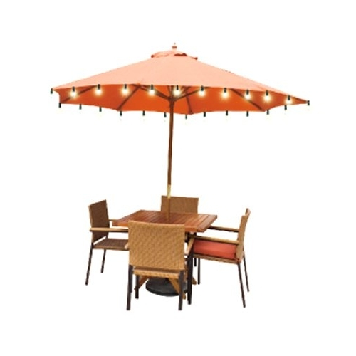 Preferred Solar Lights For Patio Umbrellas With Regard To Amazing Solar Lighted Patio Umbrella Solar Umbrellas Walmart Home (View 2 of 15)