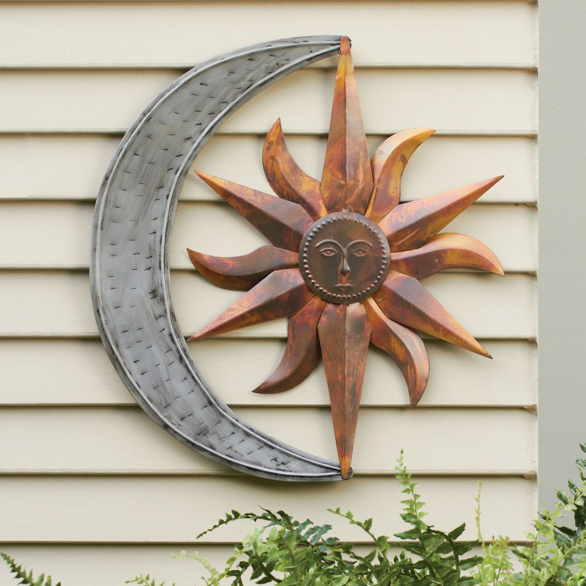Preferred Sun And Moon Indoor Outdoor Metal Wall Art (View 3 of 15)