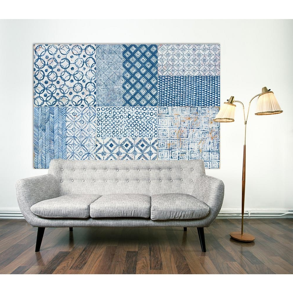 Preferred Tile Canvas Wall Art Intended For Clicart 48 In. X 72 In (View 10 of 15)