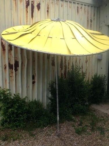 Preferred Vintage Patio Umbrellas For Sale Pertaining To Vintage 8 Patio Umbrella Orange Floral Mid Century Base – Daeric (View 10 of 15)