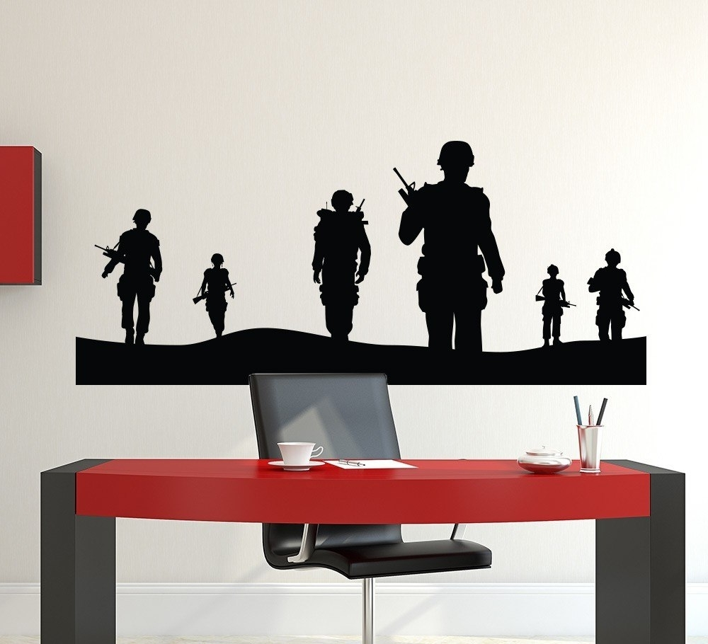 Preferred Wall Art For Men With Regard To Army Men Wall Sticker Kids Wall Decals Vinyls Poster Wall Art Wall (View 9 of 15)