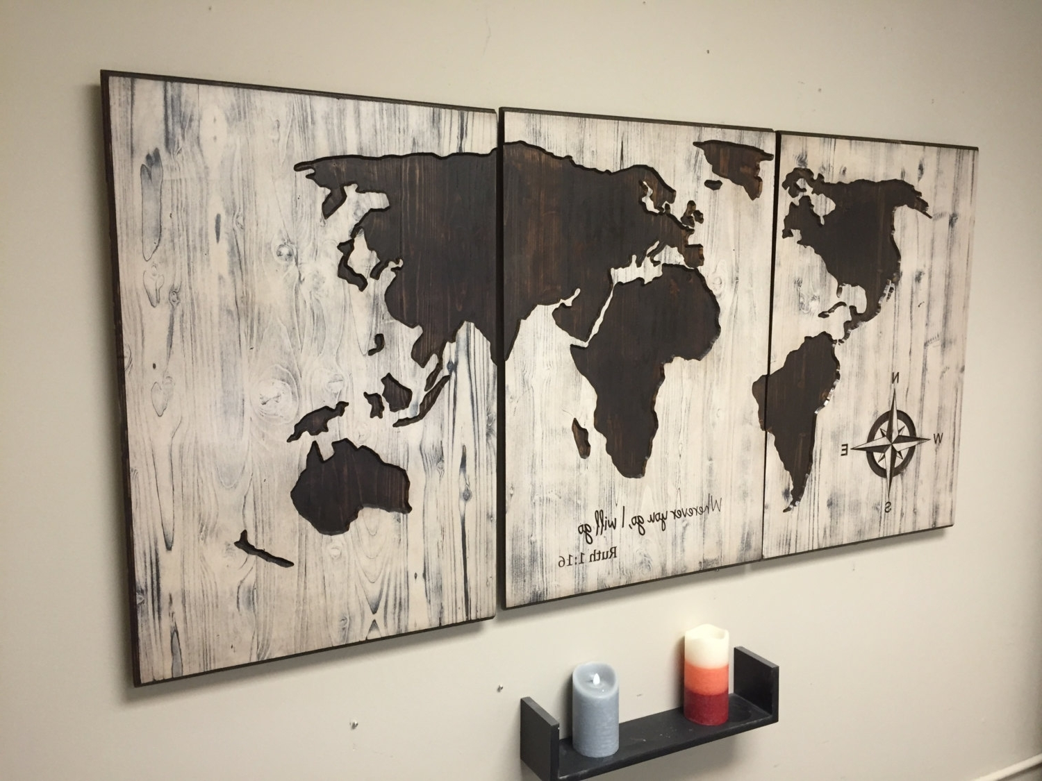Preferred World Map Reclaimed Barn Door Wood String Art Wall Decor 39 X 29 And For String Map Wall Art (View 9 of 15)