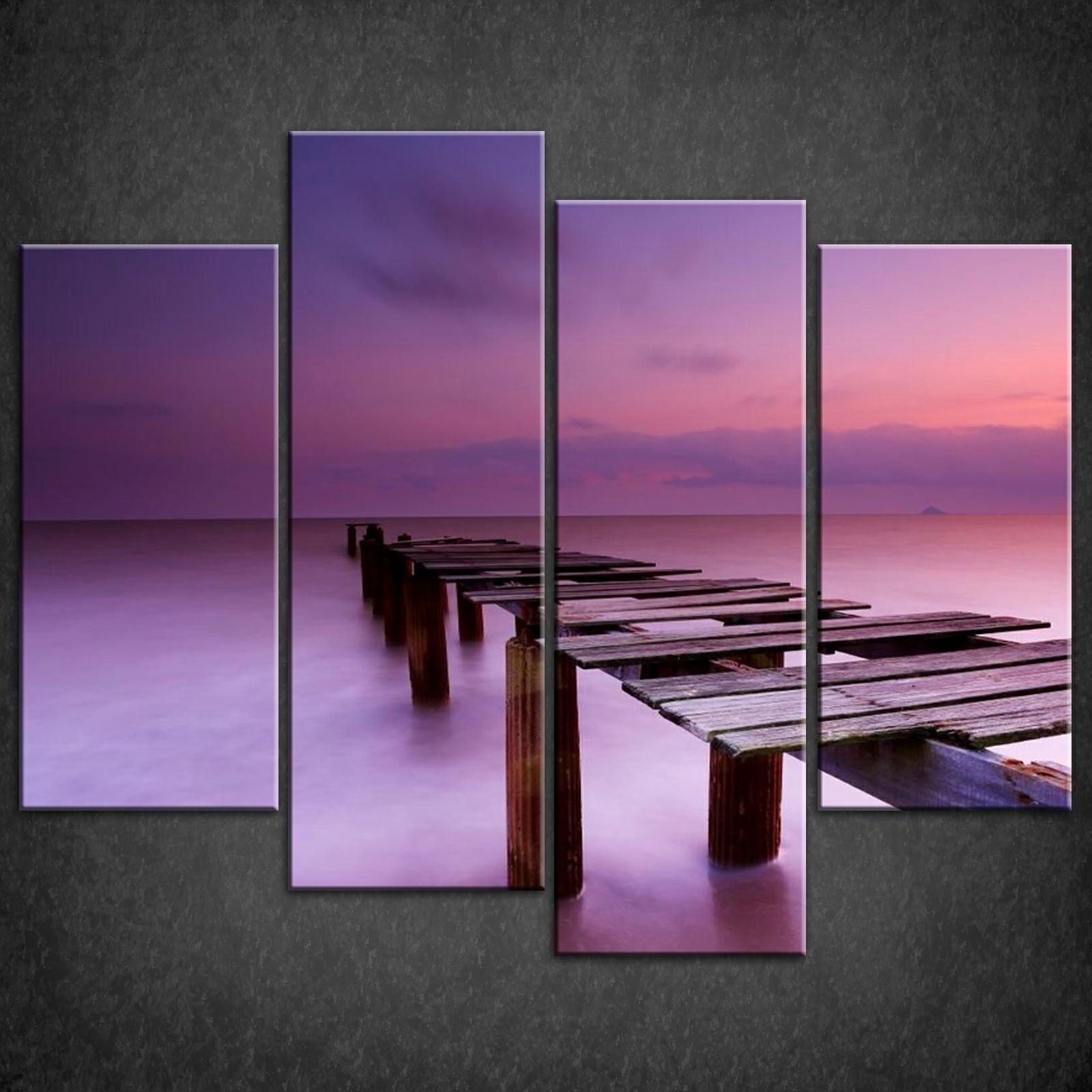 Print Purple Canvas Wall Art : Andrews Living Arts – Pretty Purple Inside 2018 Purple Wall Art Canvas (View 7 of 15)