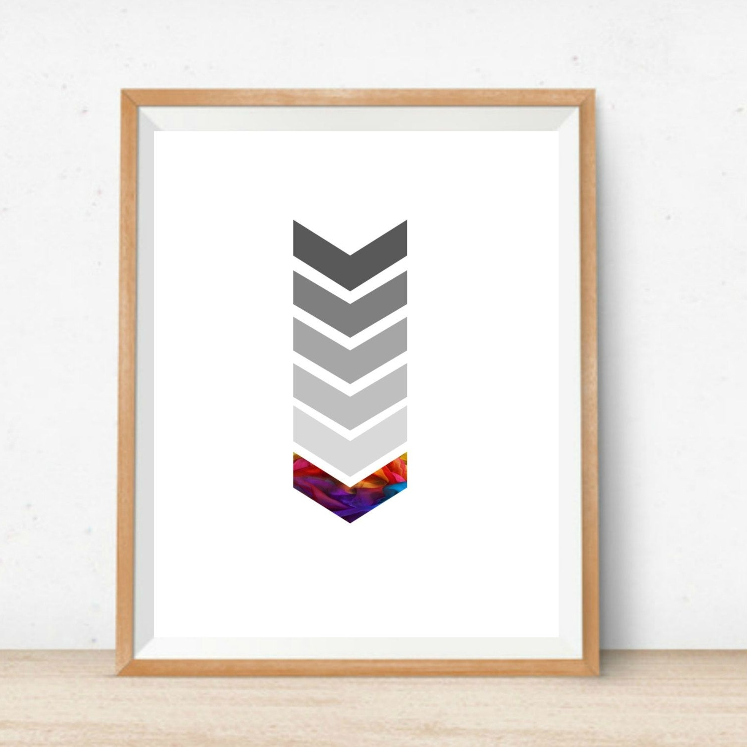 Printable Chevron Wall Art Home Decor Print Instant Download Digital Inside Widely Used Chevron Wall Art (View 11 of 15)