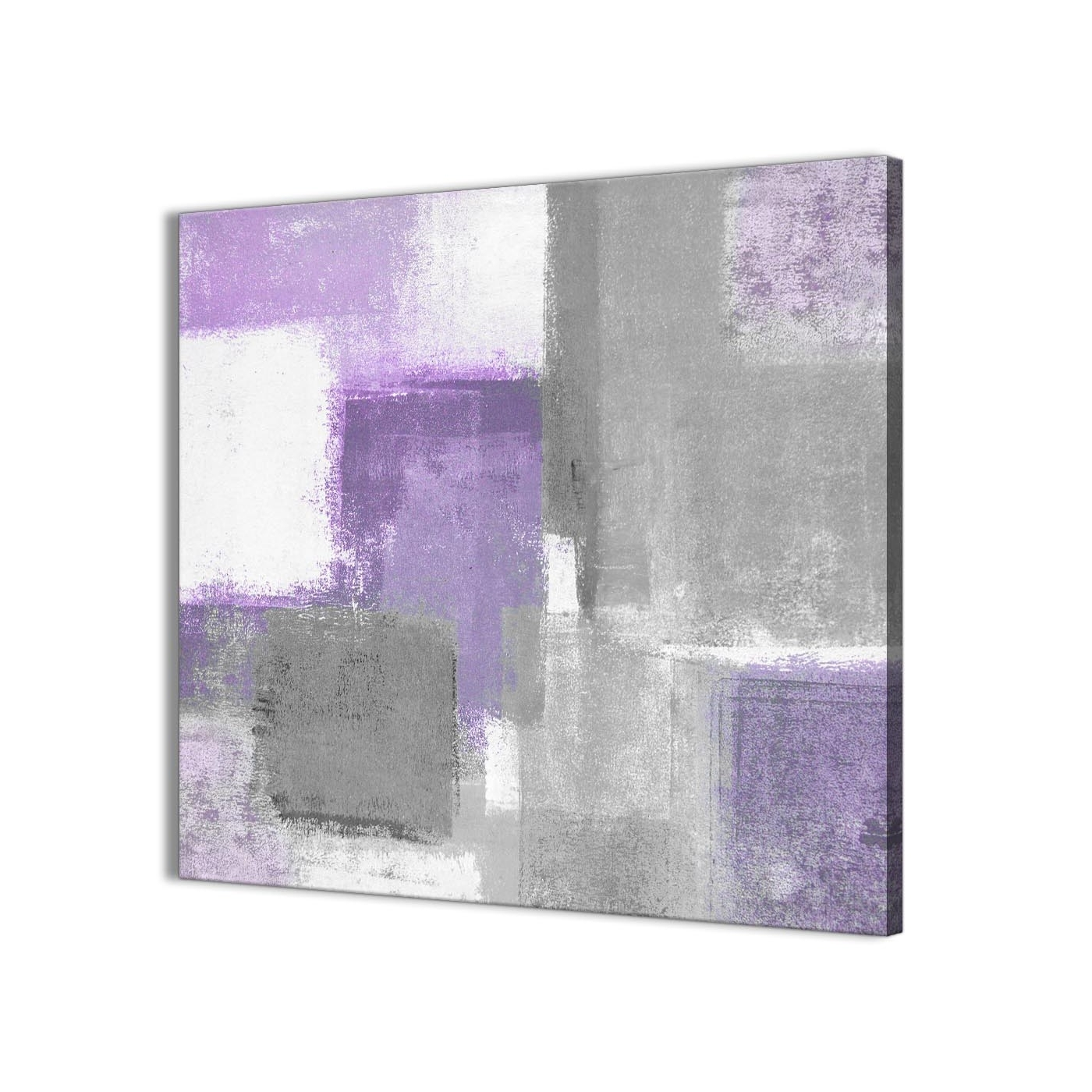 Purple And Grey Wall Art Intended For Fashionable Purple Grey Painting Bathroom Canvas Wall Art Accessories – Abstract (View 3 of 15)