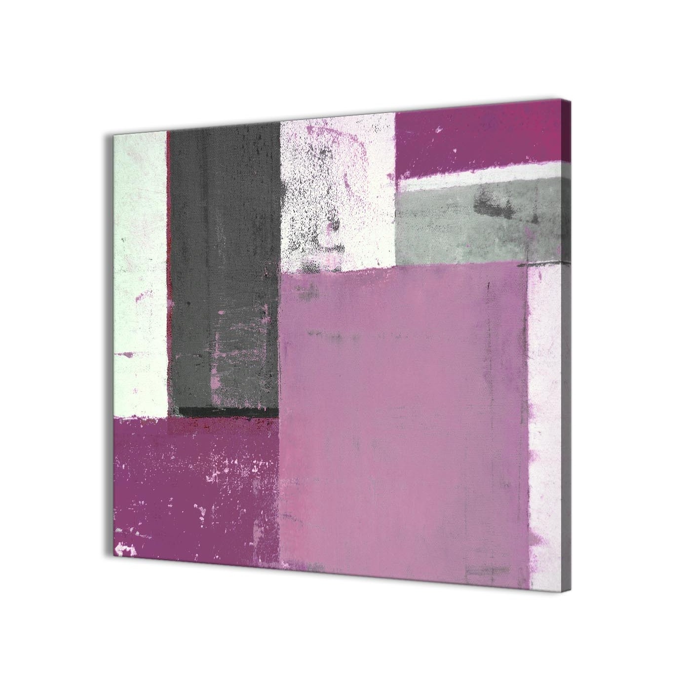Purple Grey Abstract Painting Canvas Wall Art Picture – Modern 79Cm Intended For Famous Purple And Grey Wall Art (View 12 of 15)