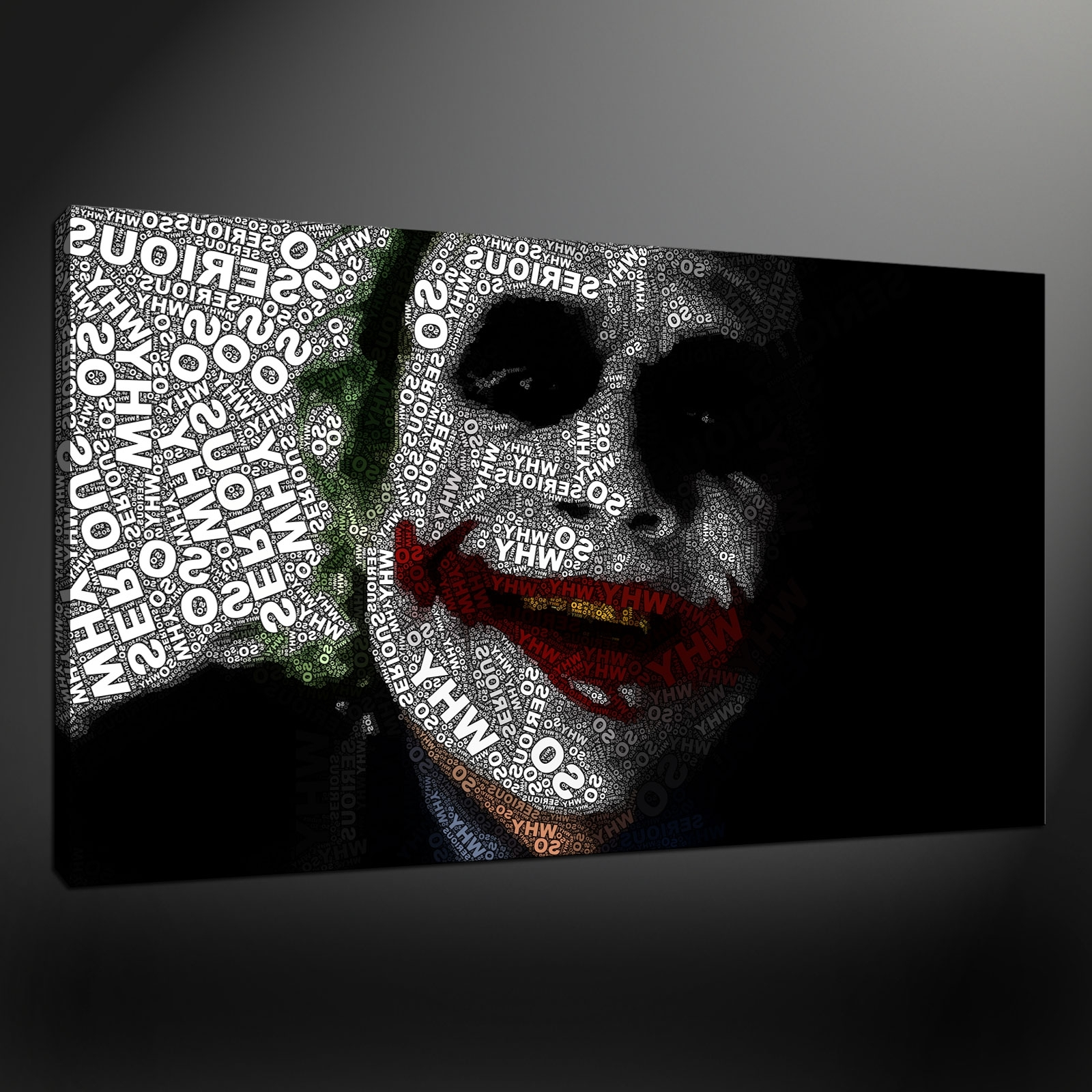 Quality Canvas Print Art With Regard To Famous Joker Wall Art (View 3 of 15)