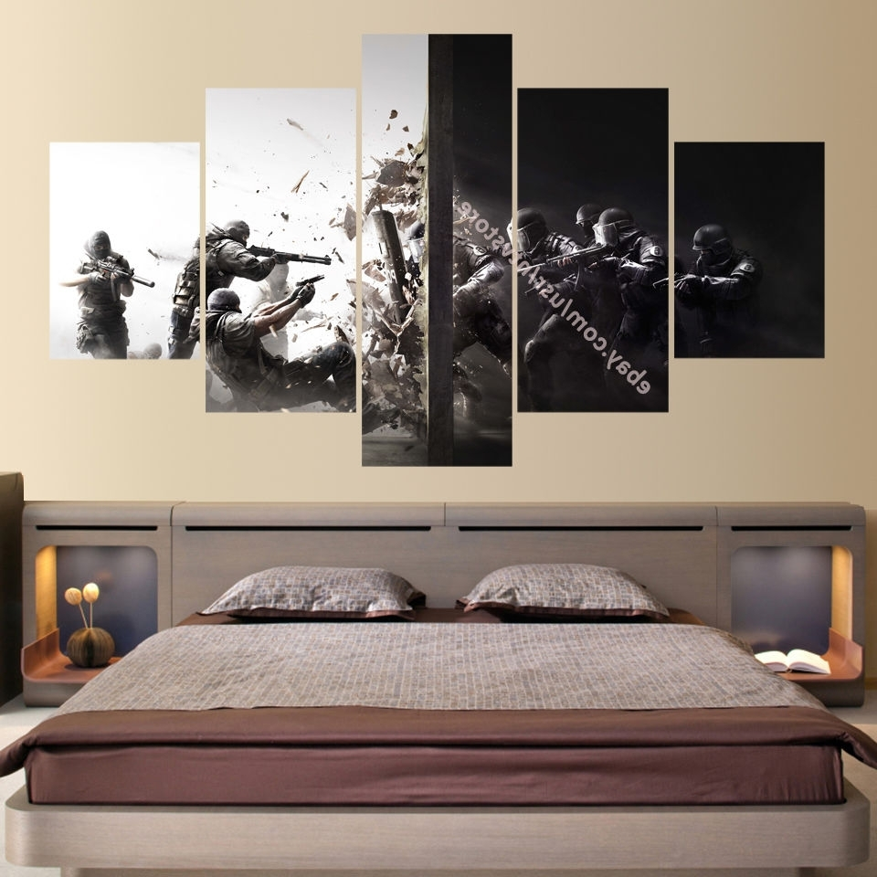 Rainbow Six 5 Piece Canvas Wall Art Print Home Decor Counter Strike Inside Most Recent 5 Piece Canvas Wall Art (View 9 of 15)