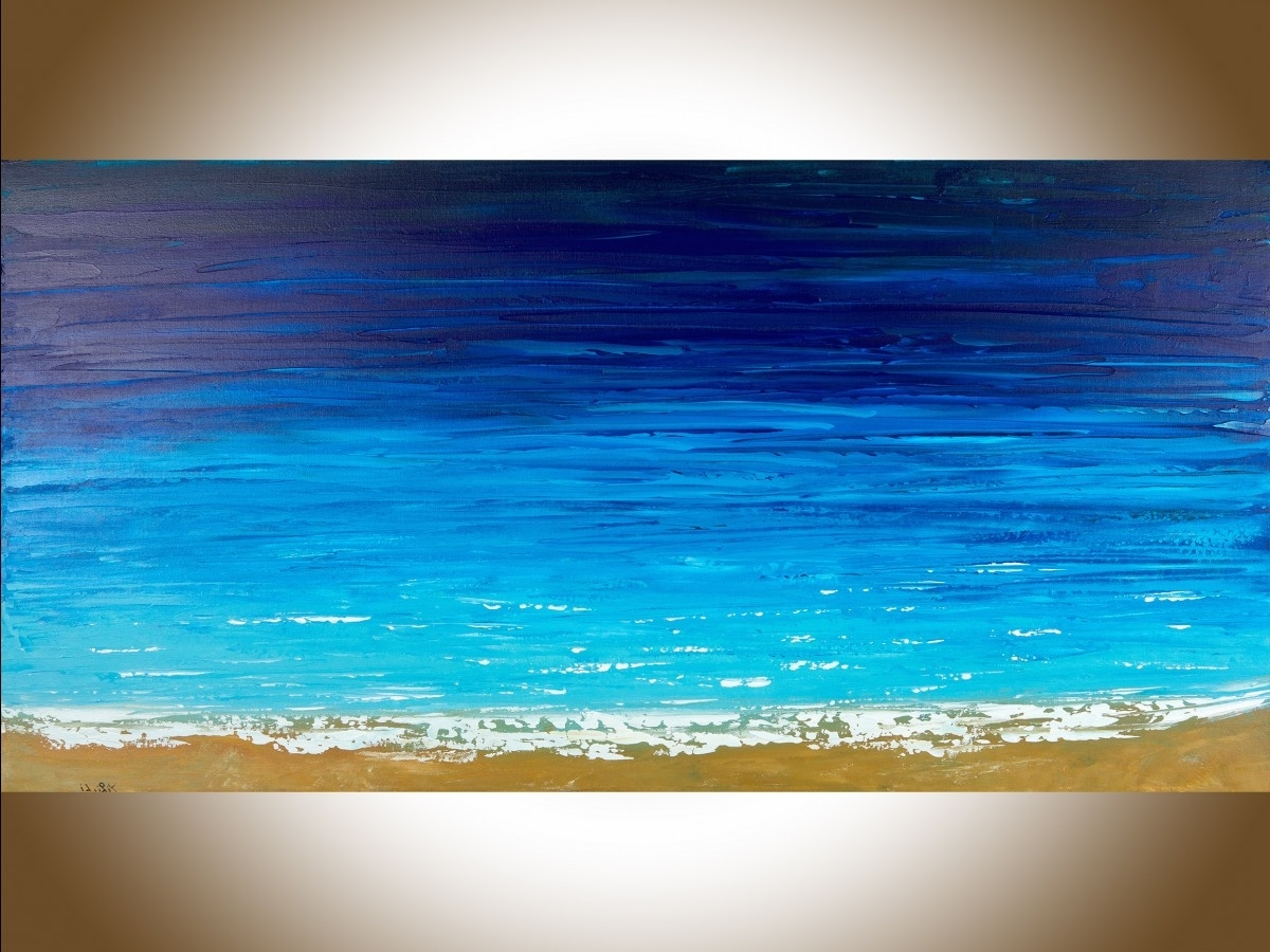 "Reach The Shoreqiqigallery 48"" X 24"" Ocean Weave Ocean Wall Art Inside Most Current Ocean Wall Art (View 14 of 15)"