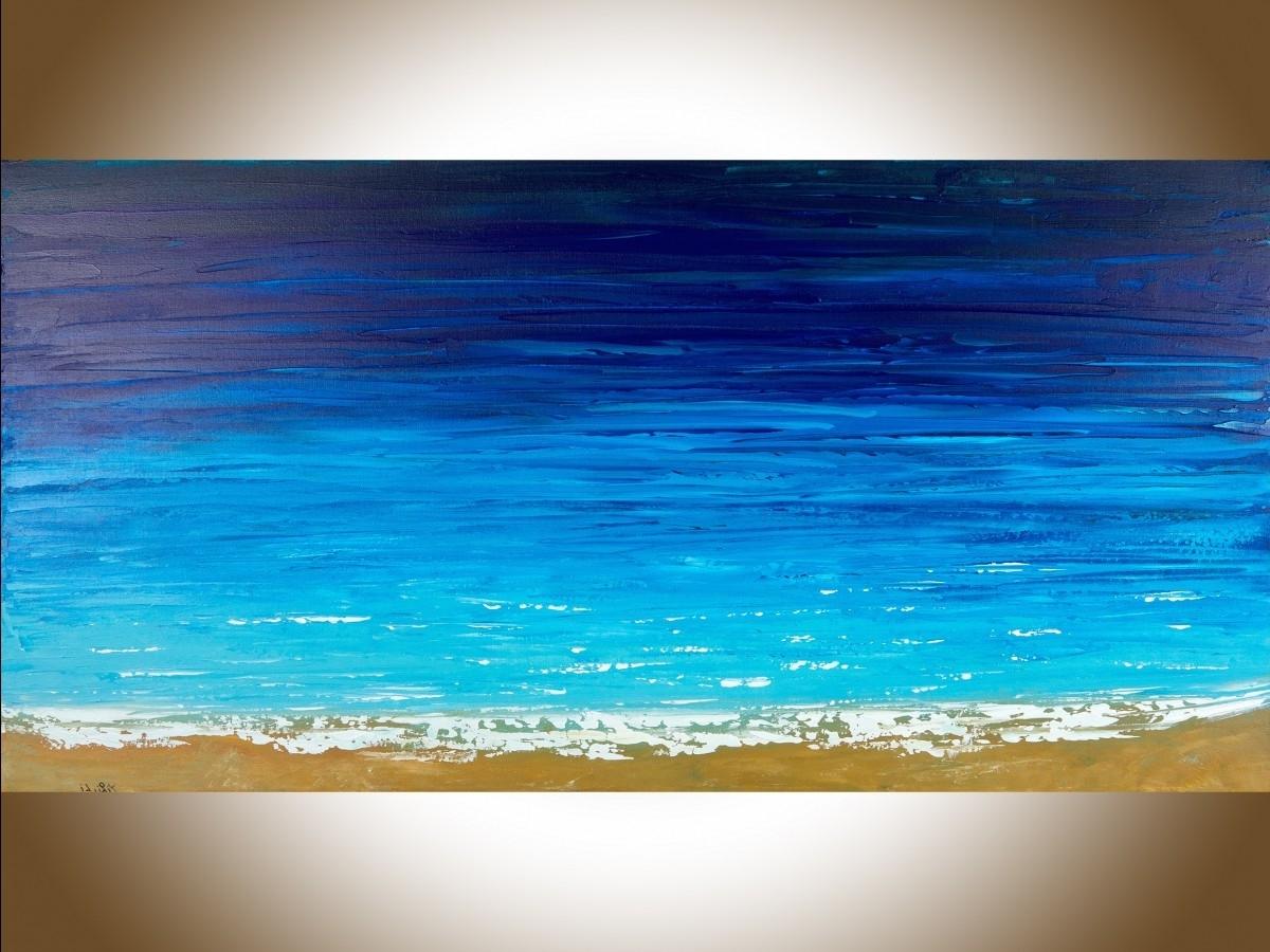"Reach The Shoreqiqigallery 48"" X 24"" Ocean Weave Ocean Wall Art Inside Most Current Ocean Wall Art (View 14 of 15)"