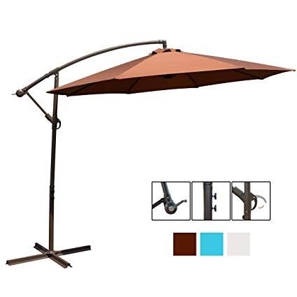Recent 10 Ft Patio Umbrellas Regarding Amazon : Hollyhome 10 Ft Patio Umbrella Offset Hanging Umbrella (View 6 of 15)