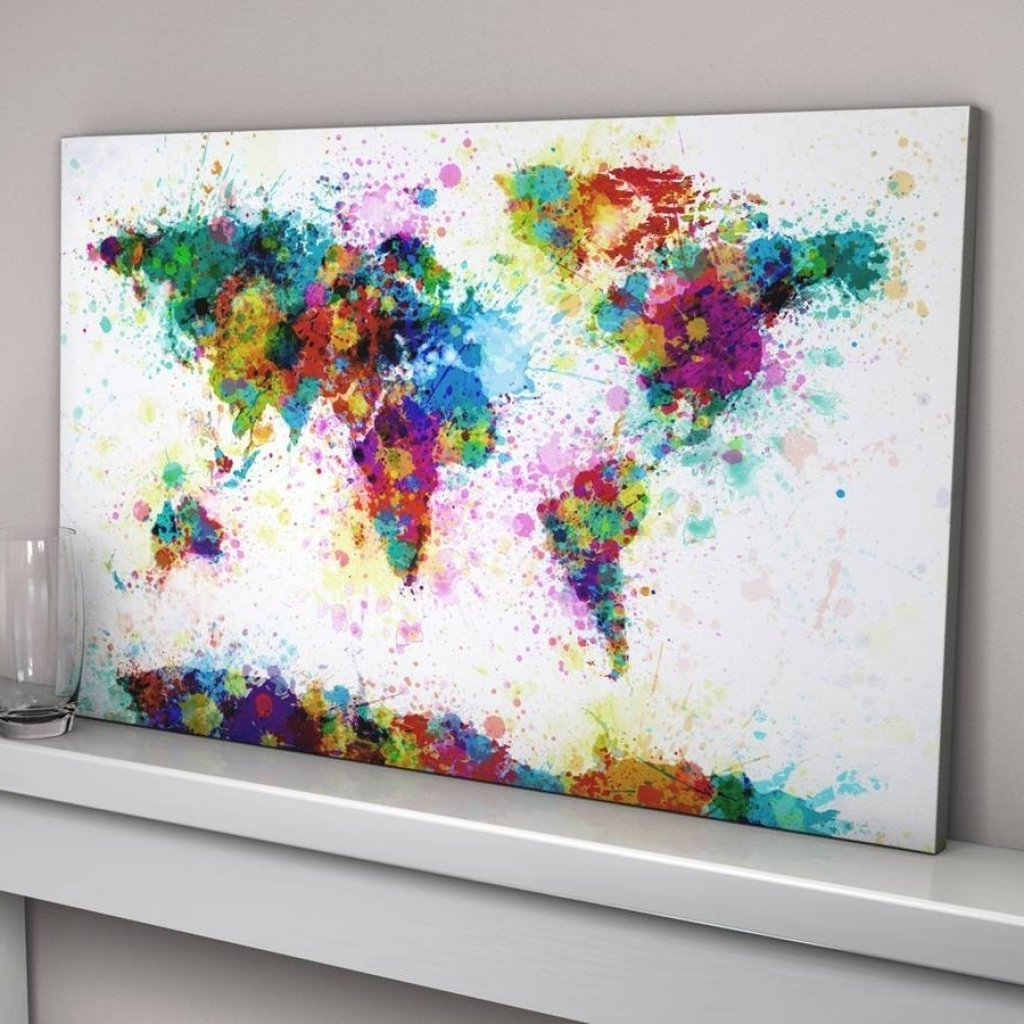 Recent 20 Best Ideas Of Abstract World Map Wall Art Intended For World Wall With Regard To Map Wall Art Prints (View 9 of 15)