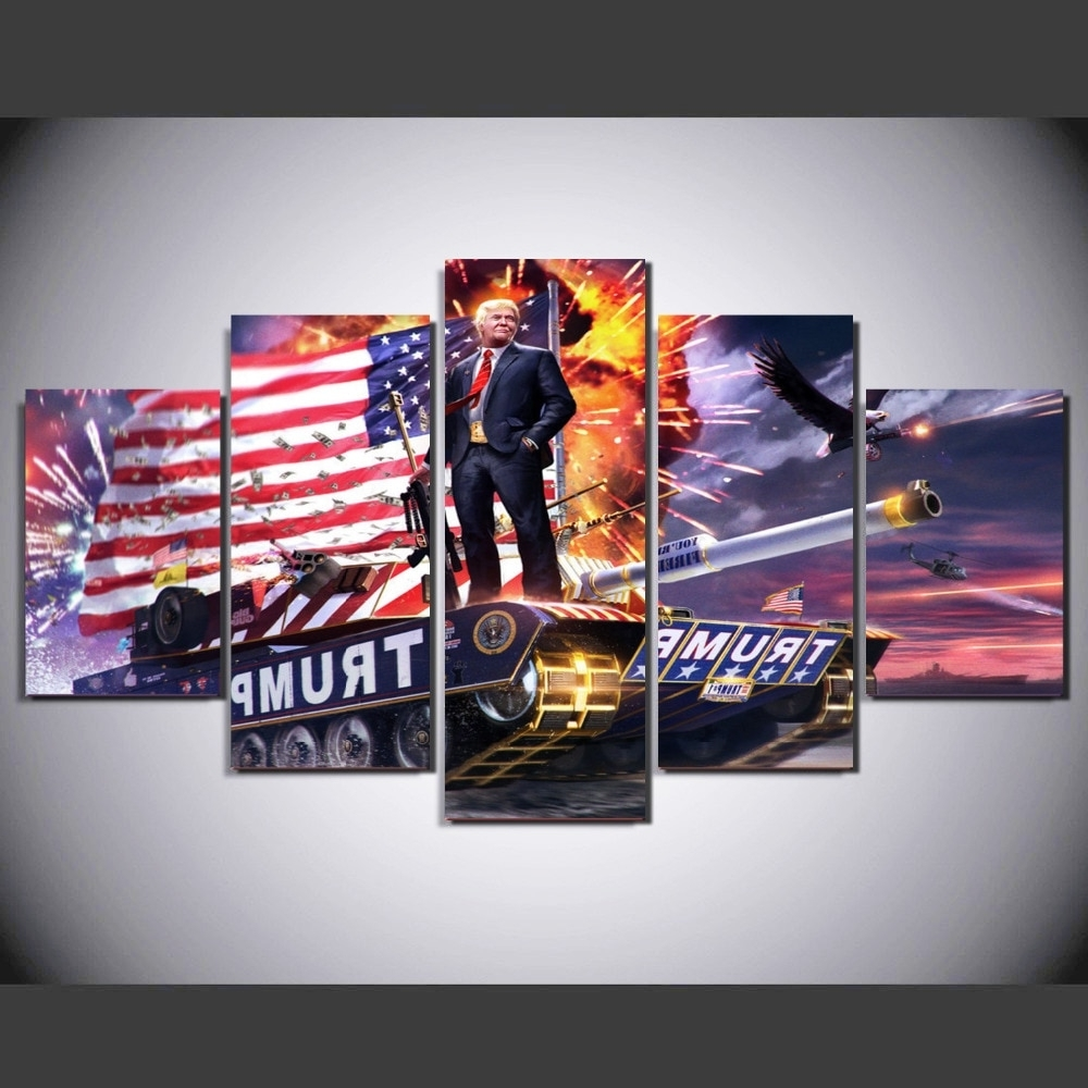 Recent 5 Piece Wall Art Canvas With Modern Canvas Paintings For Living Room Wall Art 5 Pieces American (View 14 of 15)