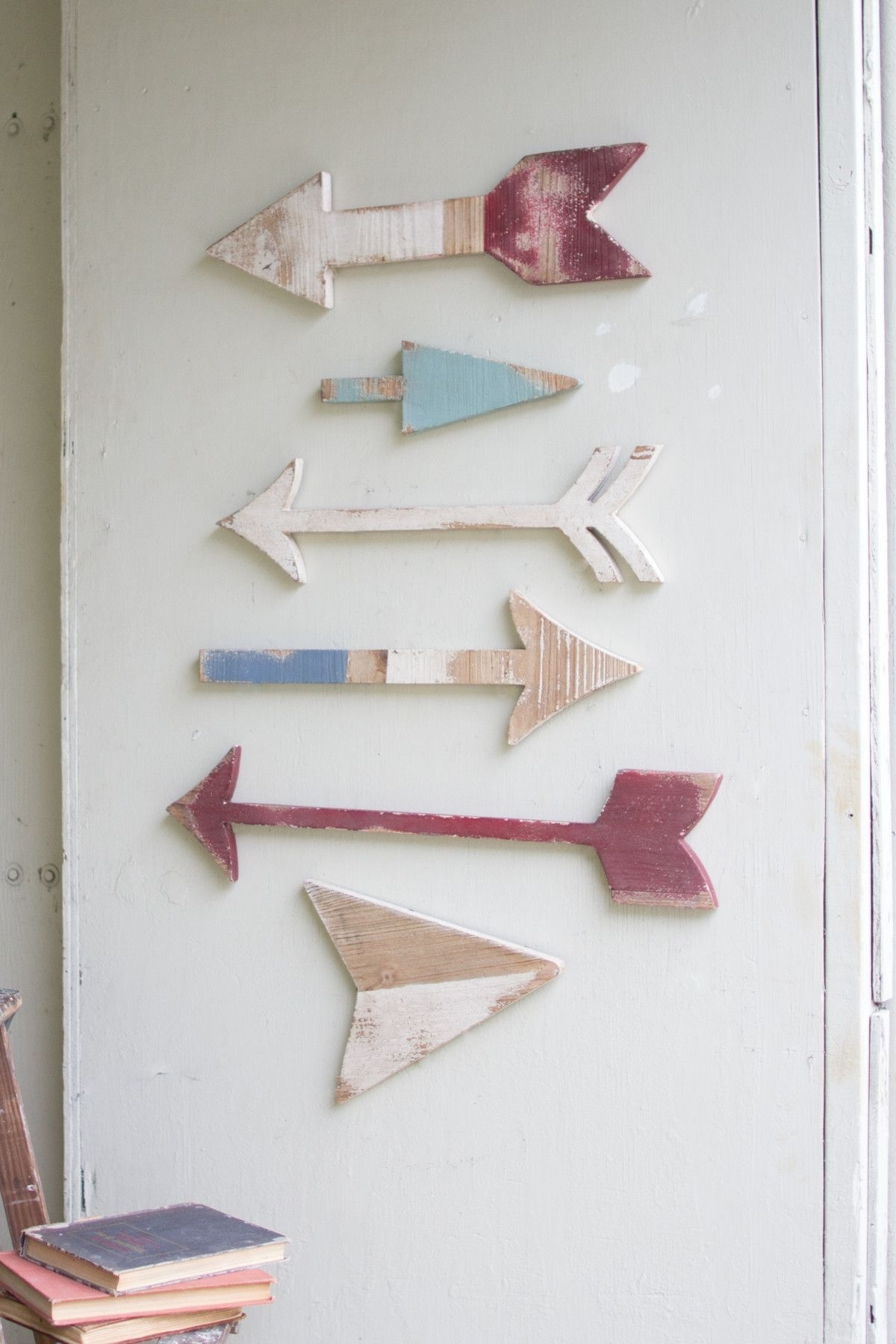 Recent Arrow Wall Art Intended For The Kalalou Wooden Arrows Wall Art Is Colorful And Will Give A Touch (View 15 of 15)