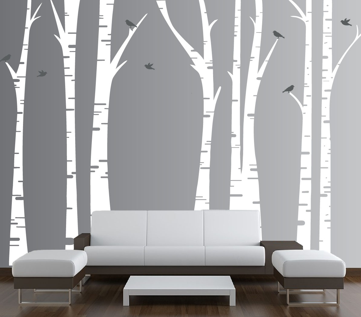 Recent Birch Tree Wall Art For Forest Birch Tree Wall Art : Andrews Living Arts – Look Fresh And (View 11 of 15)