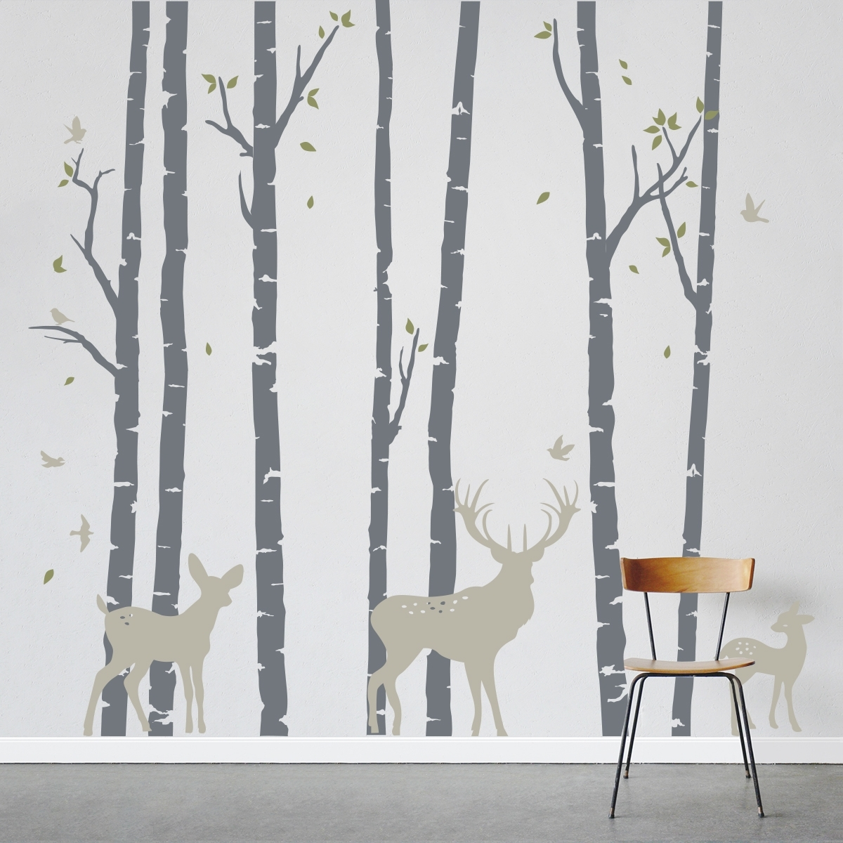 Recent Birch Tree Wall Art Intended For Birch Trees Forest With Fresh Birch Tree Wall Decal – Wall (View 10 of 15)