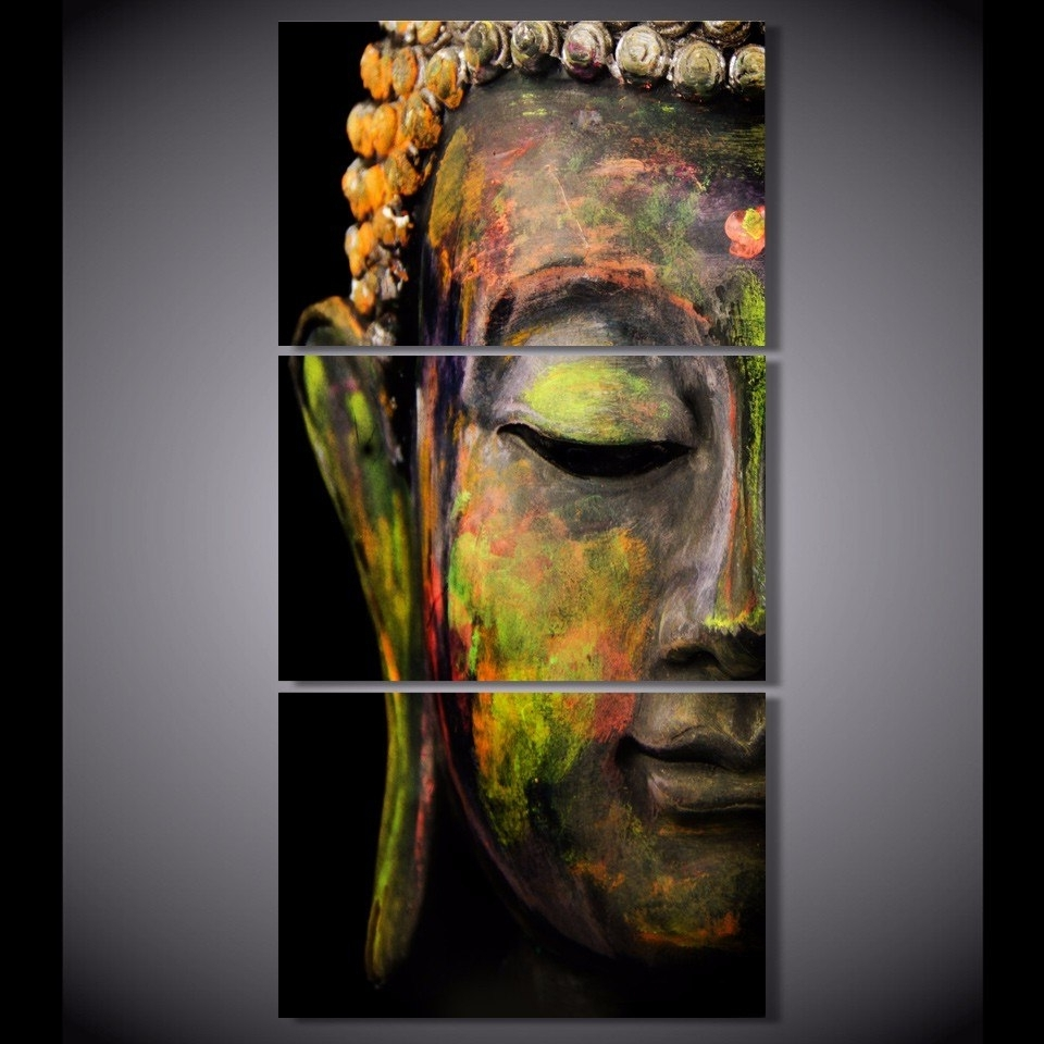 Recent Buddha Oil Painting Wall Art Paintings Picture Paiting Canvas Paints Throughout Wall Art Paintings (View 11 of 15)