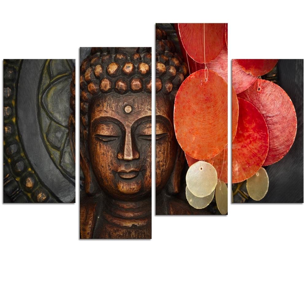 Recent Cheap Canvas Wall Art With Regard To Visual Art Decor Large Buddha Painting Prints Wall Art Decor No (View 14 of 15)