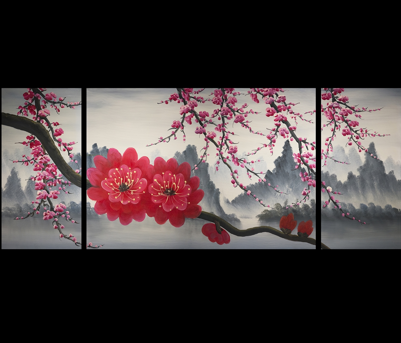 Recent Chinese Wall Art Painting Modern Chinese Wall Art Painting Intended For Chinese Wall Art (View 12 of 15)