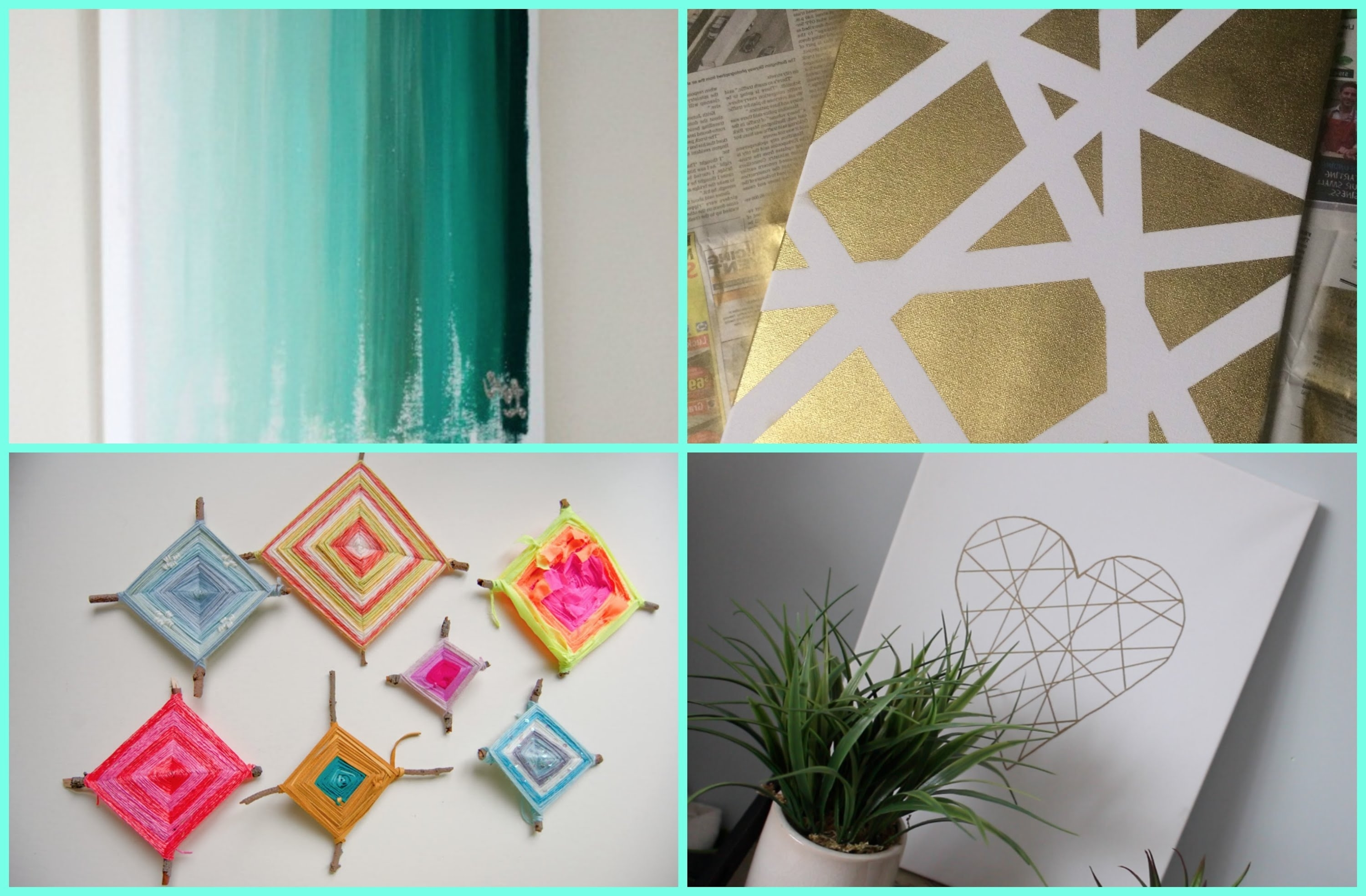 Recent Diy Dorm Room Decor: Wall Art – Youtube Throughout Wall Art Diy (View 2 of 15)
