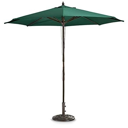 Recent Green Patio Umbrellas Intended For Amazon : Guide Gear 9' Market Patio Umbrella With Pulley System (View 14 of 15)