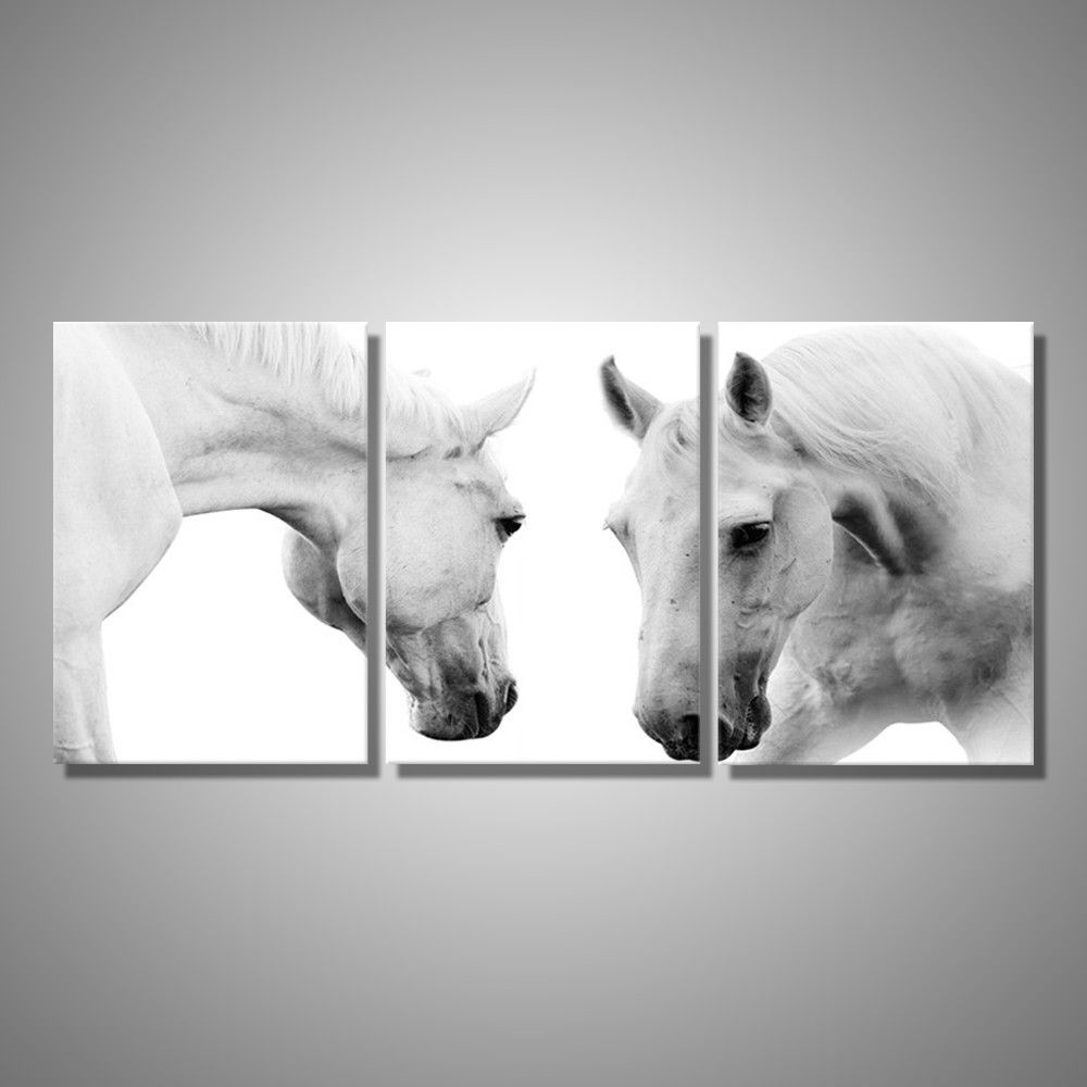 Recent Horses Wall Art Throughout Marvelous Three Piece Wall Art 28 3 Canvas Print Ocean Mountains (View 12 of 15)