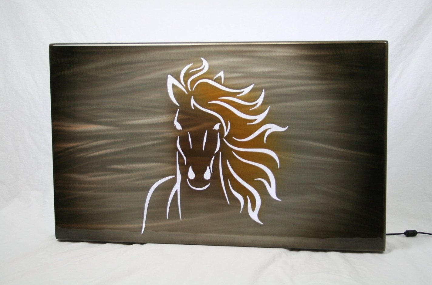 Recent Lighted Wall Art For Horse Painting, Aluminum Art Panel, Lighted Wall Decor, Modern Wall (View 13 of 15)