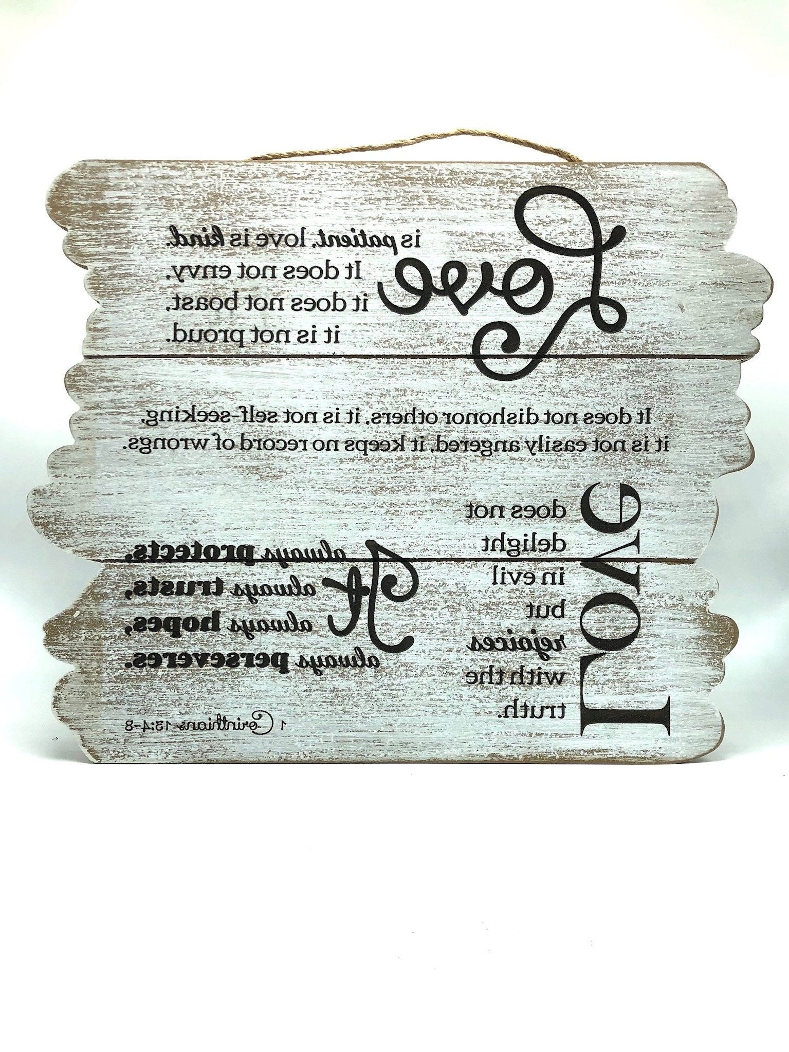 Recent Love Is Patient Wall Art With Regard To Beautiful Wall Art – Love Is Patient (Wooden Planks) (View 8 of 15)