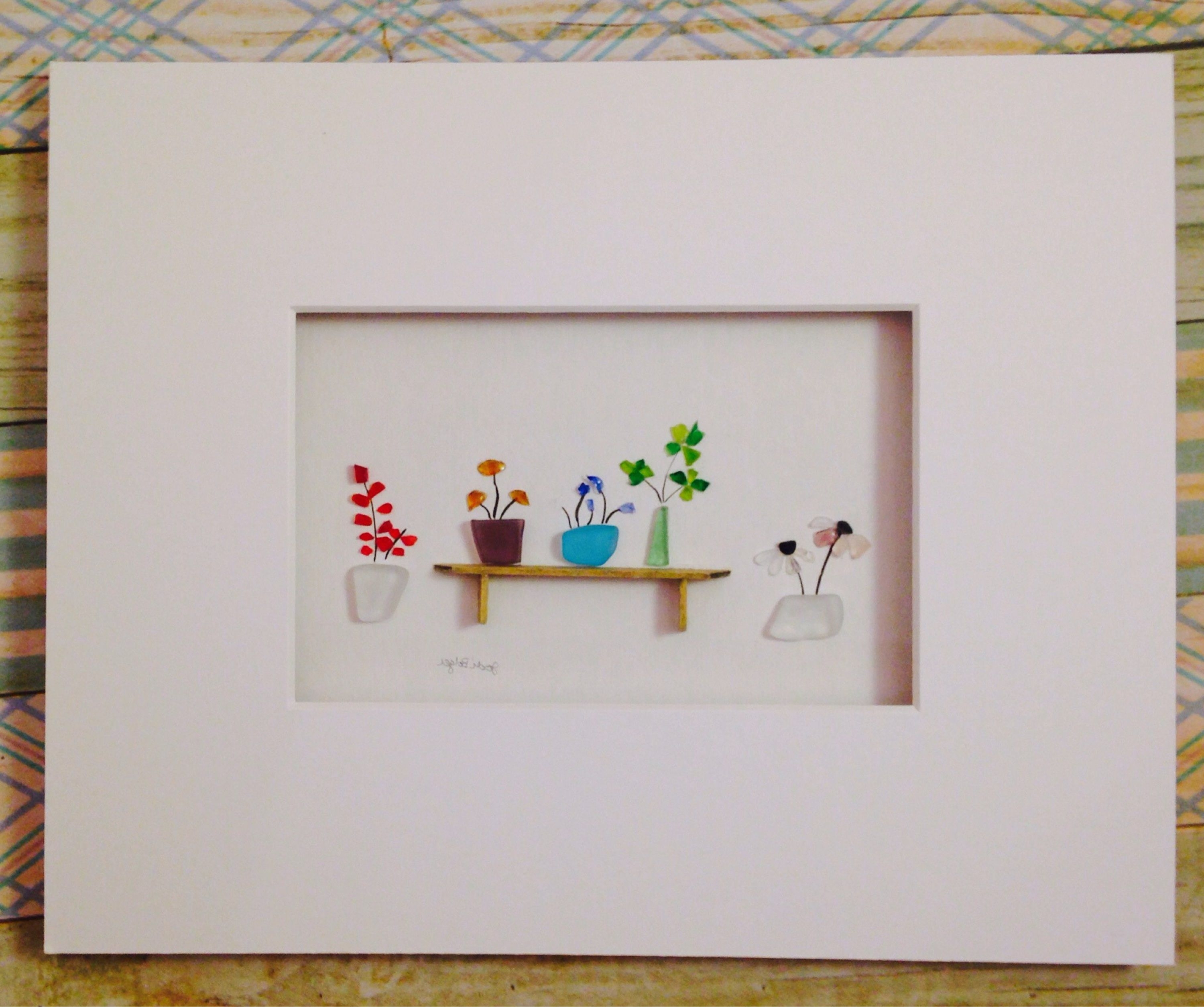 Recent Mothers Day Gift, Sea Glass Flowers, Sea Glass Wall Art Within Sea Glass Wall Art (View 10 of 15)