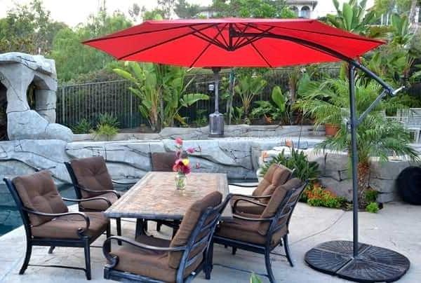 Recent Offset Patio Umbrella – Red 10' Roundquality Patio Umbrellas, Market Within Hanging Offset Patio Umbrellas (View 3 of 15)