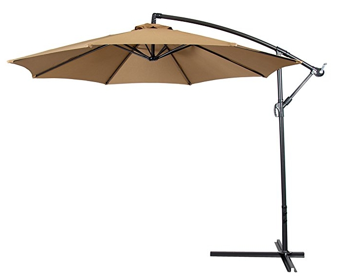 Recent Offset Patio Umbrellas Intended For Best Offset Patio Umbrella Reviews And Buy Guide In 2018 – Housewife (View 13 of 15)