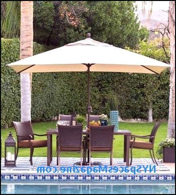 Recent Offset Patio Umbrellas With Base With Regard To Offset Patio Umbrella 5 Best Patio Umbrellas Reviews Of Cantilever (View 14 of 15)