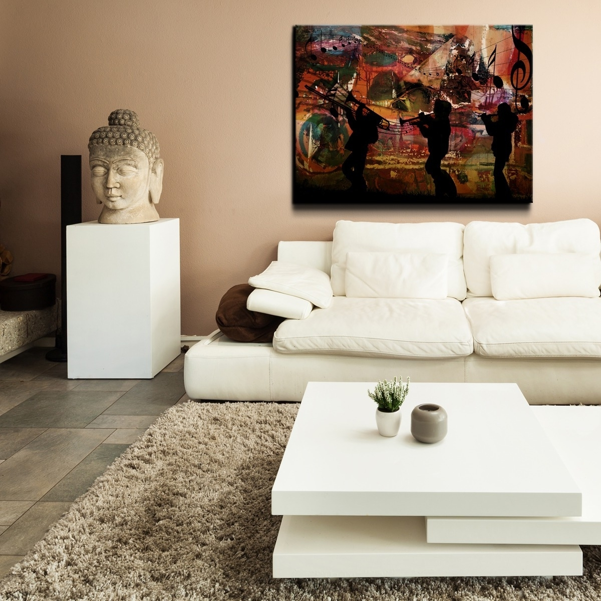 Recent Oversized Wall Art Pertaining To Shop Ready2Hangart 'jazz Trio' Oversized Canvas Wall Art – Multi (View 8 of 15)