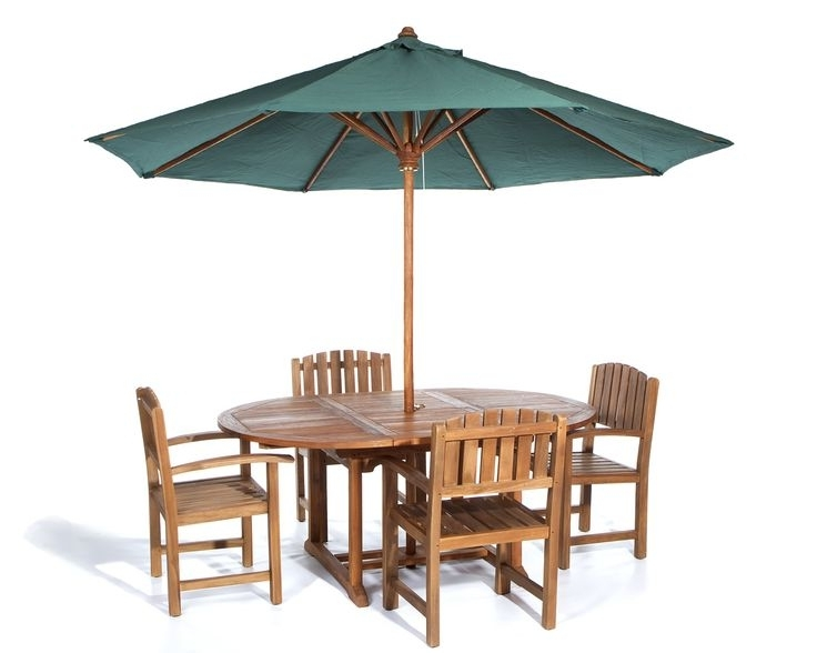 Recent Patio: Awesome Umbrella Patio Table Picnic Tables With Umbrella With Regard To Patio Umbrellas With Table (View 14 of 15)
