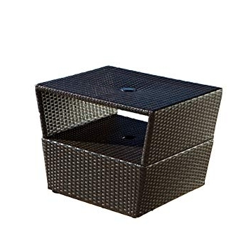 Recent Patio Umbrella Stand Side Tables Intended For Rst Outdoor Umbrella Stand Side Table: Amazon (View 6 of 15)