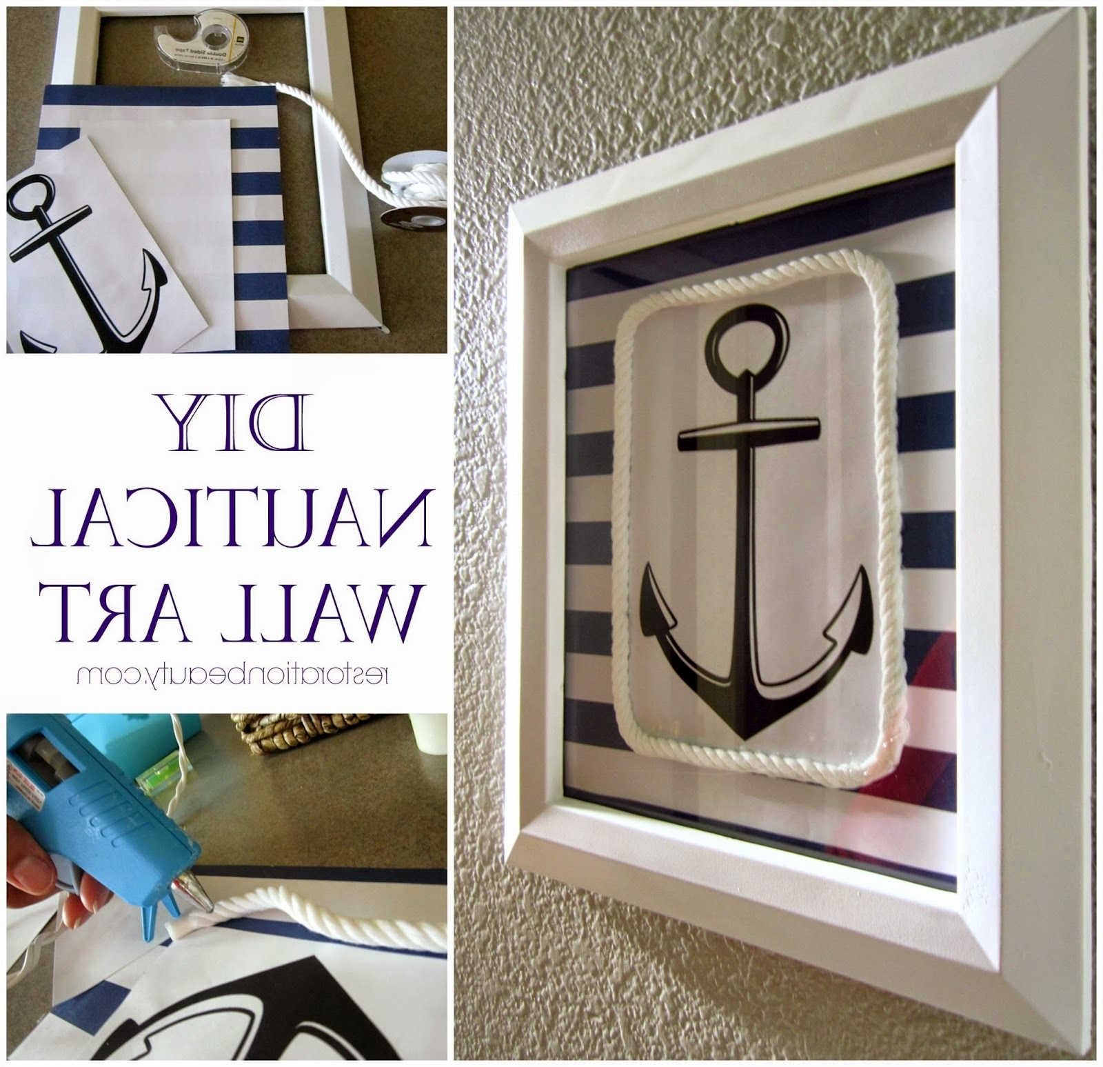 Recent Restoration Beauty: Diy Nautical Wall Art For Nautical Wall Art (View 11 of 15)