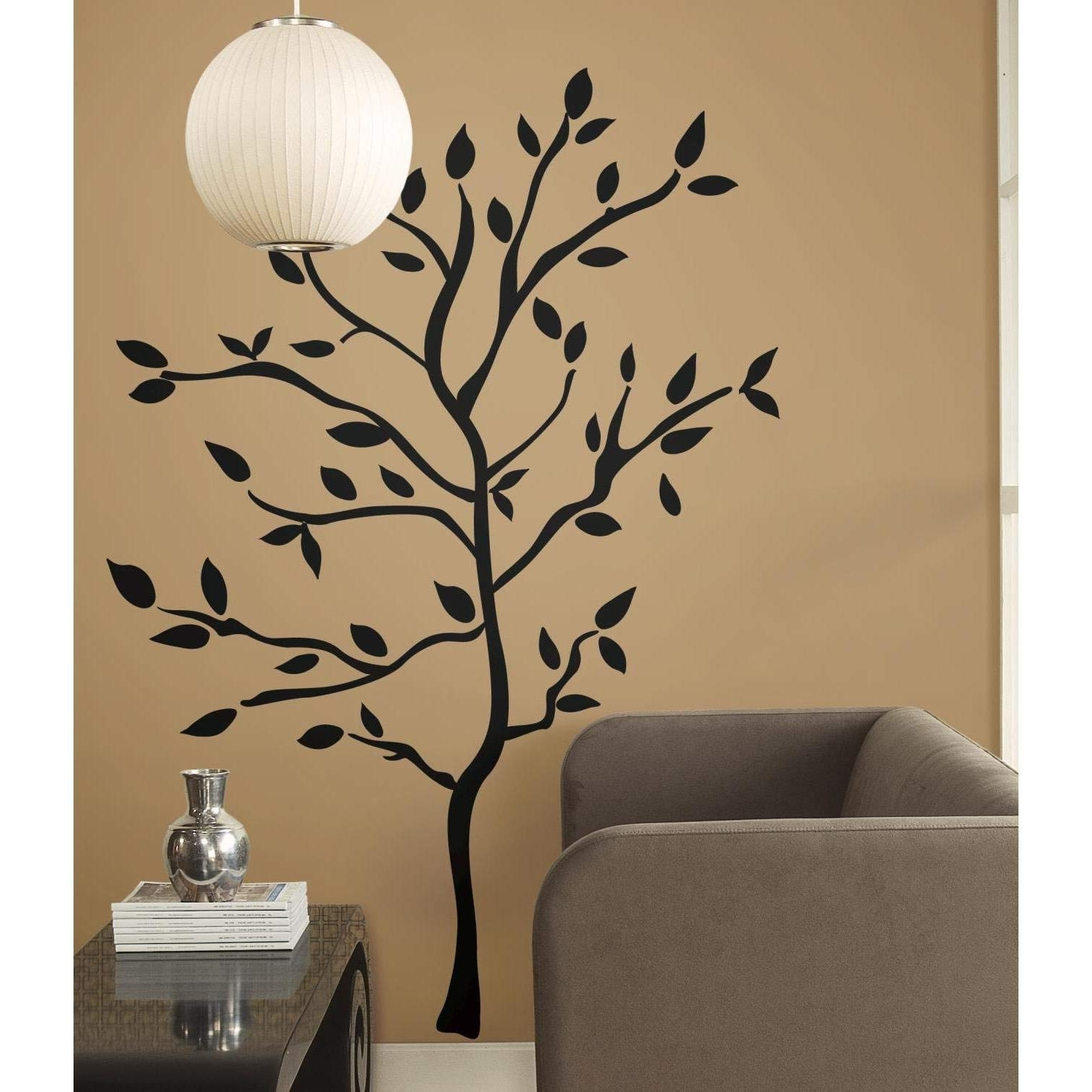 Recent Roommates Rmk1317Gm Tree Branches Peel And Stick Wall Decals, Wall Intended For Wall Sticker Art (View 7 of 15)