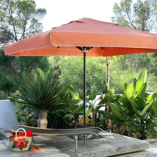 Recent Square Sunbrella Patio Umbrellas In Rectangular Patio Umbrella Sunbrella Riviera Square Modern (View 10 of 15)
