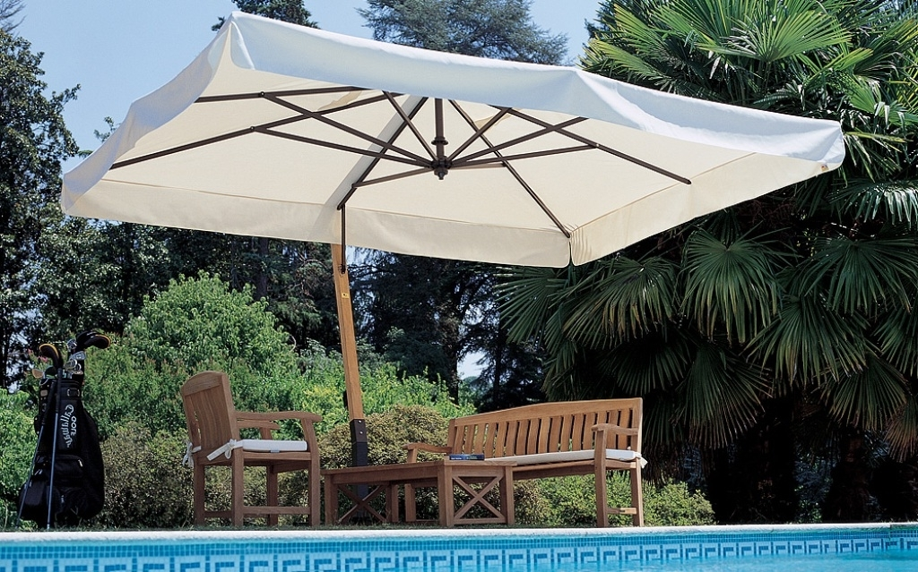 Recent Sunbrella Outdoor Patio Umbrellas With Best Cantilever Patio Umbrellas — Everything Home Design (View 8 of 15)